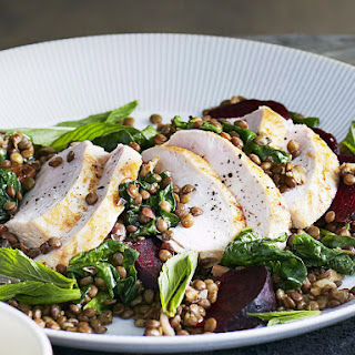 Chicken with Spinach Lentils