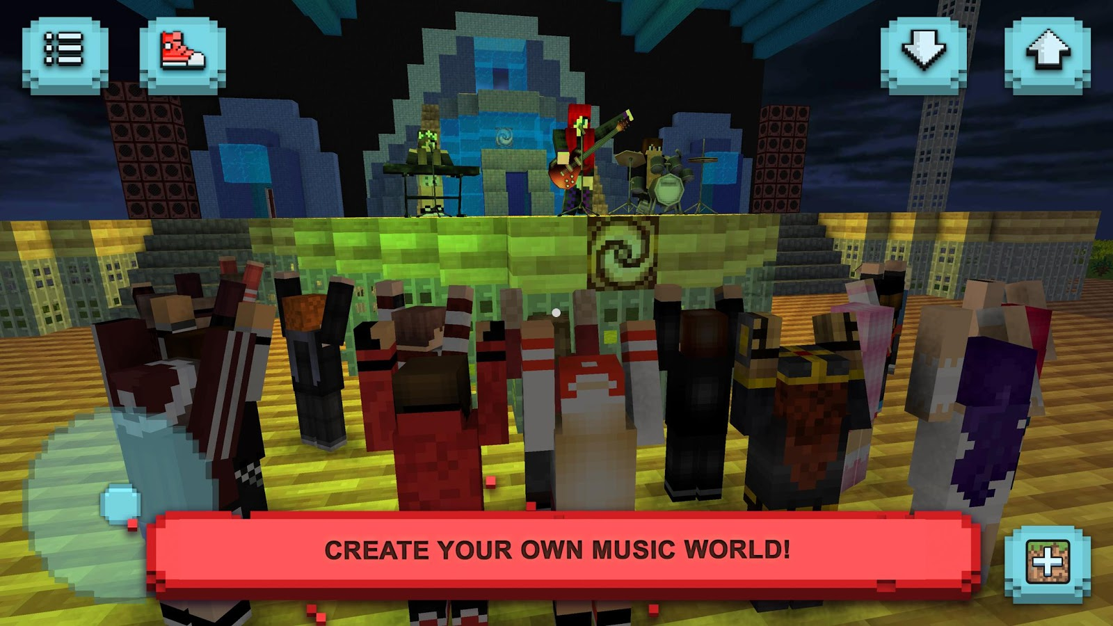 Rock star craft music legend android apps on google play for Crafting and building app store