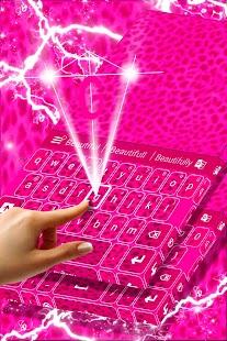 Keyboard Pink Cheetah Theme - náhled