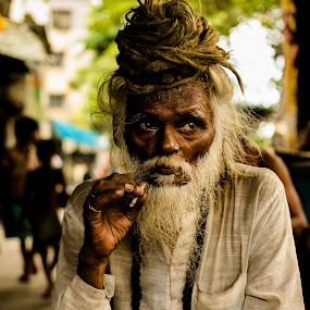 L O O K S by Shibasish Saha - People Portraits of Men ( canon, face, nikon d5100, nikon, pwc faces, sadhu, people, portrait )