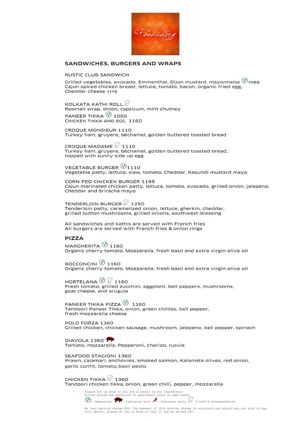 Pondichery Cafe - Sofitel menu 4