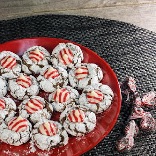 Peppermint Blossom Crinkle Cookies