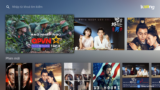 Keeng Movies for TV Box - náhled
