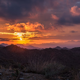 Sunset by Kevin Kern - Landscapes Mountains & Hills ( mountains, desert, tonto national forest, sunset, phoenix, kevin kern )