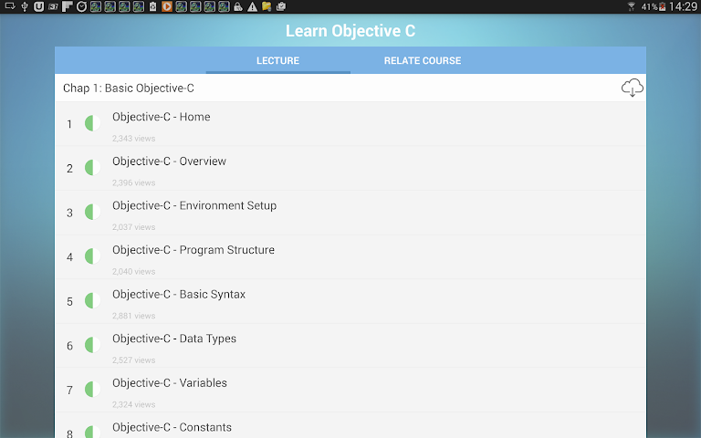 android Learn Objective C Screenshot 7