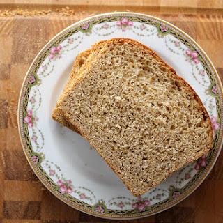 Whole Wheat Maple Oatmeal Bread - vegan