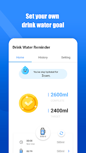Drink Water Reminder: hydration app Screenshot