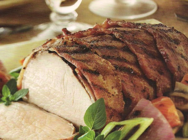 Bacon Wrapped Marinated Pork Loin Recipe