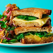 Kale & Spinach Grilled Cheese
