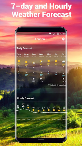 Daily & Hourly Weather Clock Widget  screenshots 6