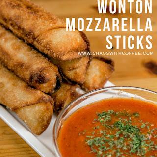 Wonton Mozzarella Sticks.