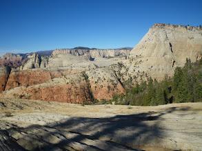 "Photo: View from Sarah's Sidewalk across towards ""Emerald Peak"" (hidden)."