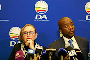 Helen Zille and  Mmusi Maimane  in happier days when the DA thought he could be used to pull in black voters.