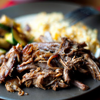 Slow Cooker Blackberry BBQ Pulled Pork.