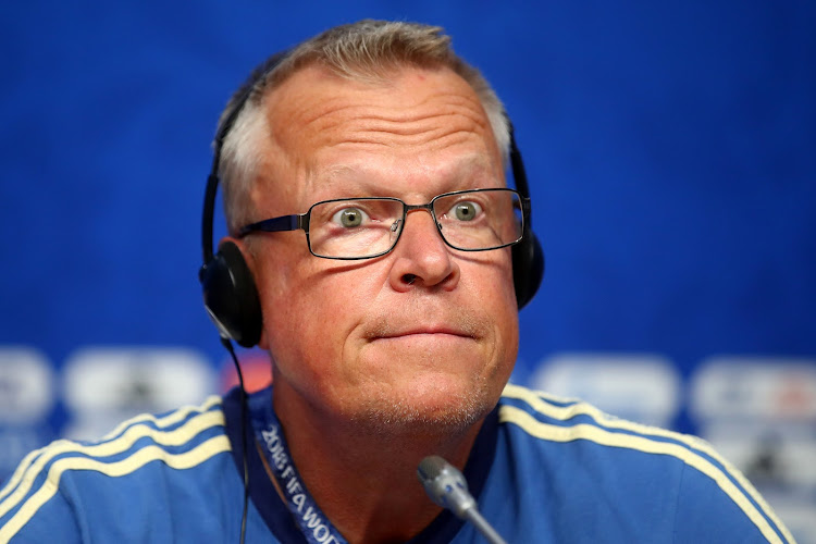 Sweden coach Janne Andersson during a press conference.