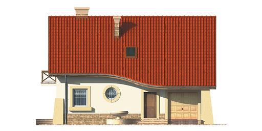 Dom przy Berberysowej - Elewacja przednia