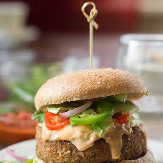 Vegan Lentil Nacho Burgers.