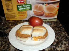 Photo: Served with an apple and side salad for a super quick & easy dinner/snack.