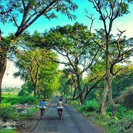 Go Green by Rajesh Mondal - City,  Street & Park  Street Scenes ( mobilography )