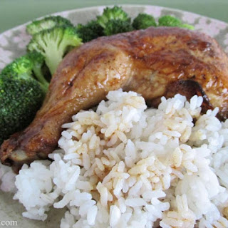 Balsamic Soy Roasted Chicken Thighs