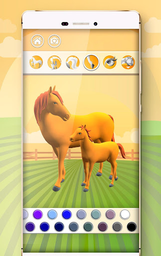 Horse Coloring Book 3D image   3