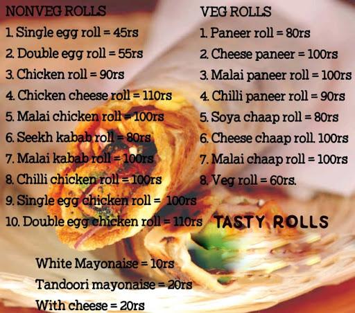 Tasty Rolls menu 1