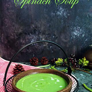 Spinach Soup | Palak Soup Recipe