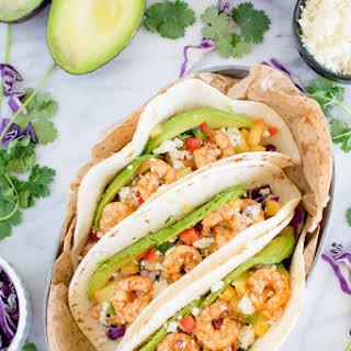 Caribbean Jerk Shrimp Tacos.