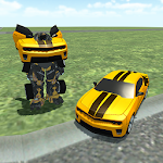 Transformer Robot Car Icon