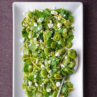 Broad Bean Salad With Mint, Feta And Lemon Oil