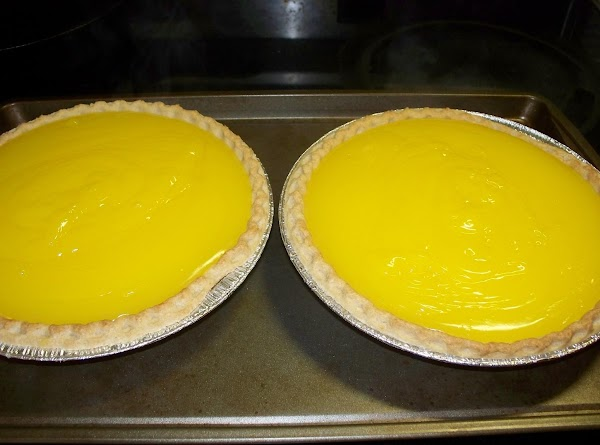 Fill each of the pre-baked pie crusts and set aside while you make the...
