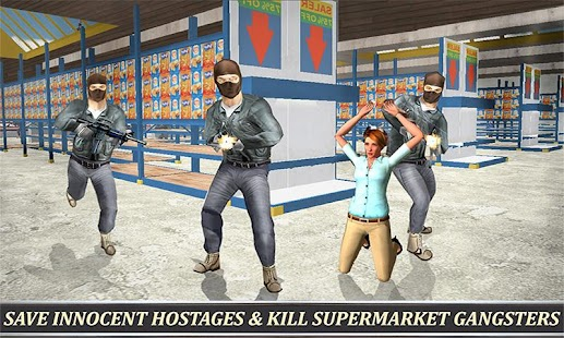 Supermarket SWAT Sniper Rescue- screenshot thumbnail