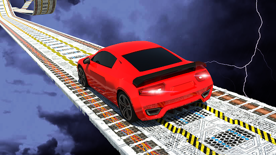 Futuristic Sky Rooftop: Impossible Car Stunts - náhled