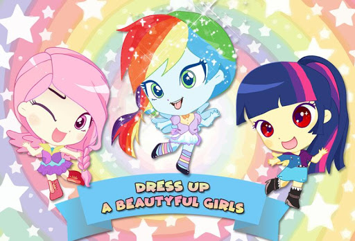 Mini Ponies Rainbow Pinkie Pony Dress Up 1.4 screenshots 1