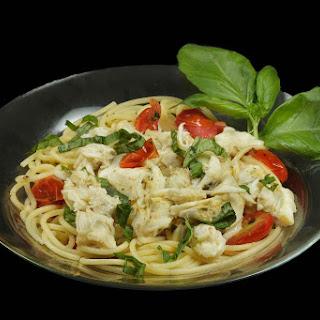 Spaghetti Fresca with Jumbo Lump Crabmeat.