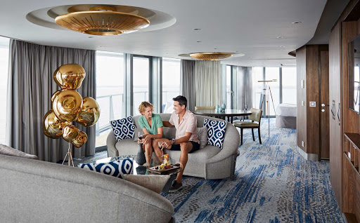 The Penthouse Suite offers some of the best views on Celebrity Flora.