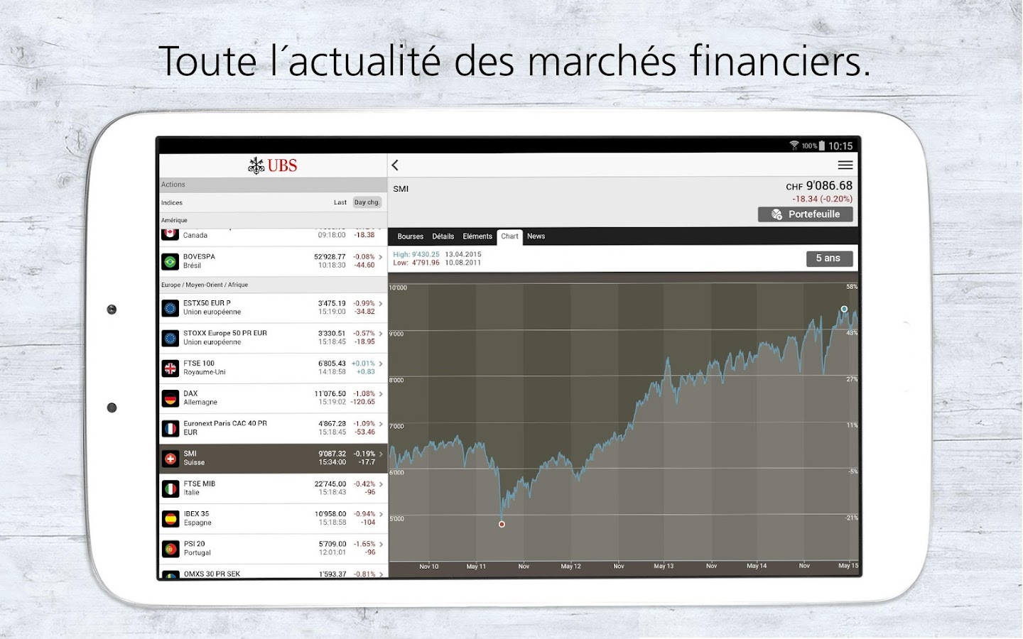 UBS Mobile Banking – Capture d'écran