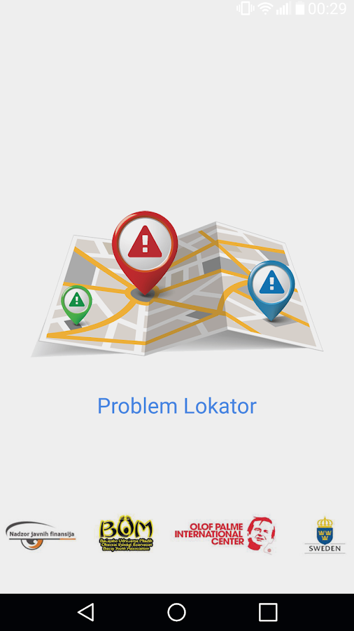 Problem Lokator- screenshot