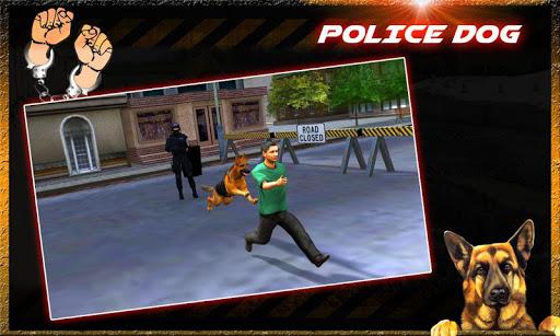 범죄시 경찰 개 체이스