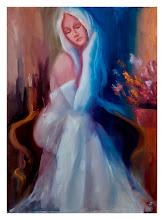 Photo: Элеонора Обухова, Девушка в белом, 50х70см, холст, масло, по мотивам M. Спэйна