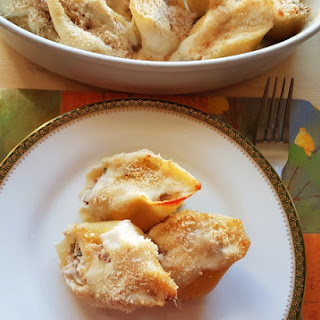 Conchiglioni Pasta Shells With Tuna And Ricotta; Perfect Party Food!.