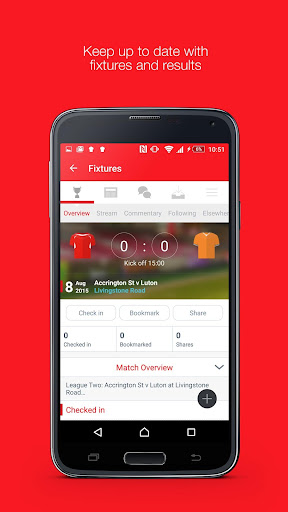 Fan App for Accrington Stanley