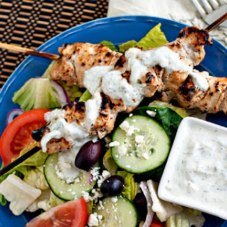Grilled Chicken Tzatziki Salad