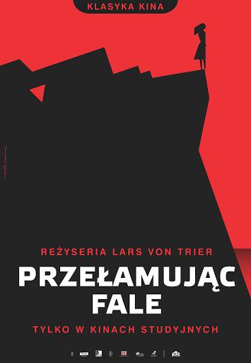 Polski plakat filmu 'Przełamując Fale'