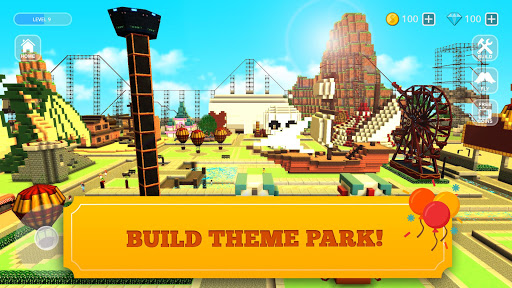 Roller Coaster Craft: Blocky Building & RCT Games 1.17-minApi23 screenshots 1