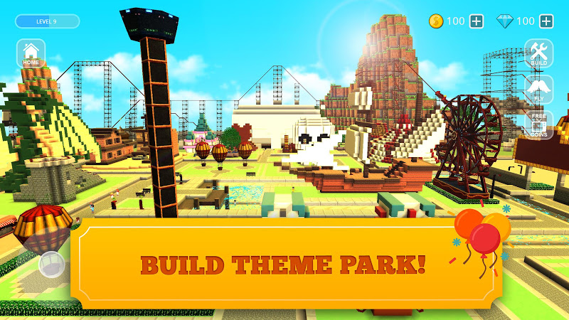 Roller Coaster Craft: Blocky Building & RCT Games Cheat APK MOD Download 1.17-minApi23