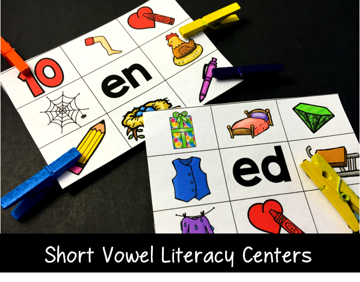 literacy centers for short vowels