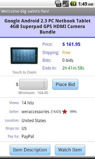 Pocket Auctions for eBay screenshot 3