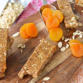 No Bake Almond Apricot Granola Bars