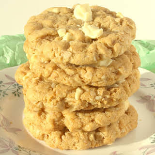 Flourless White Chocolate and Peanut Butter Cookies.